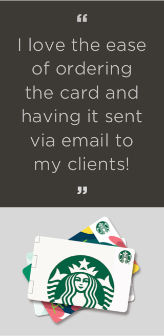 I love the ease of ordering the card and having it sent via email to my clients!